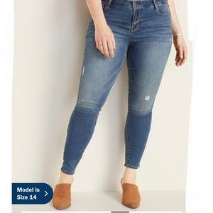 Old Navy Rockstar Distressed Medium Wash Jean